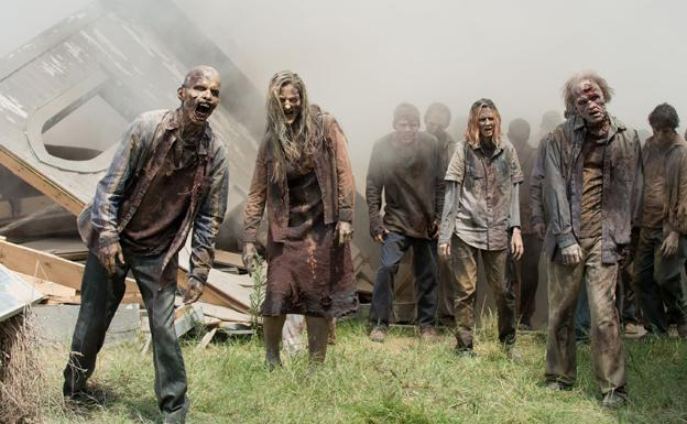Una de las escenas de 'The Walking Dead'.