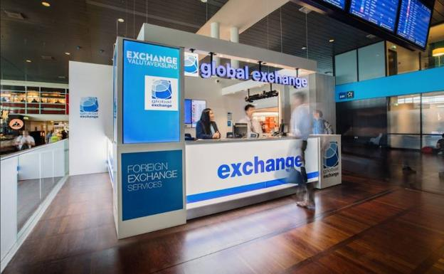 Oficina de Global Exchange en el aropuerto de Turquía. /El Norte