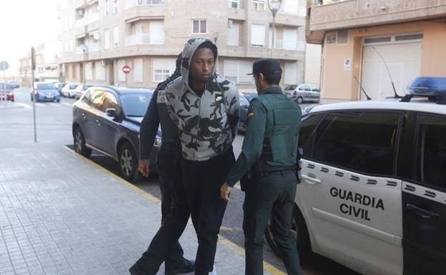 Ruben Semedo, escoltado por la Guardia Civil.