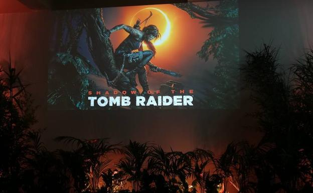 Escenario de la presentación de 'Shadow of the Tomb Raider'.