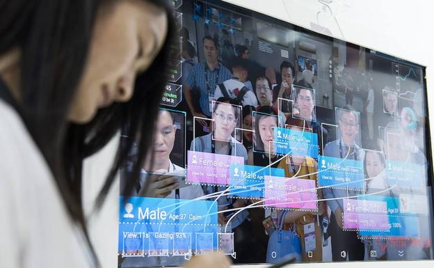 Identificación de personas en China mediante inteligencia artificial.