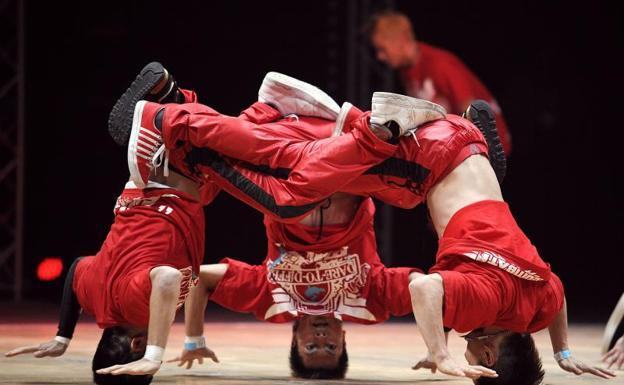 Competición internacional de breakdance.