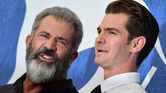 Mel Gibson y Andrew Garfield. /
